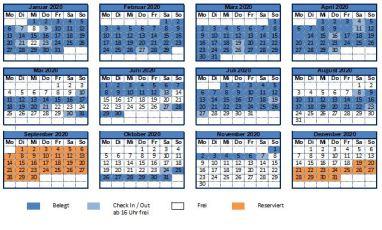 Belegungsplan des Ferienhaus Happy Diamond, Cape Coral Florida