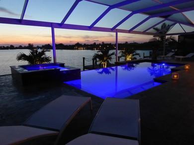 Ferienhaus Happy Diamond, Cape Coral, Pool, Lanai, Sonnenuntergang, Bootsdeck, Seeblick